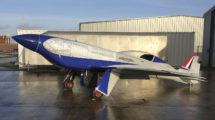 El Rolls-Royce ACCEL listo para sus pruebas de rodaje en tierra.
