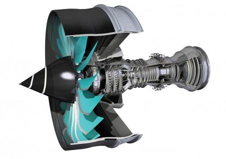 Diagrama del nuevo motor Rolls-Royce Ulrafan en el que participa ITP como uno de los principales socios.