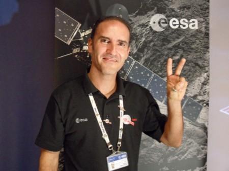 Miguel Pérez Ayúcar, coordinador jefe del grupo de operaciones científicas y planificación de Rosetta