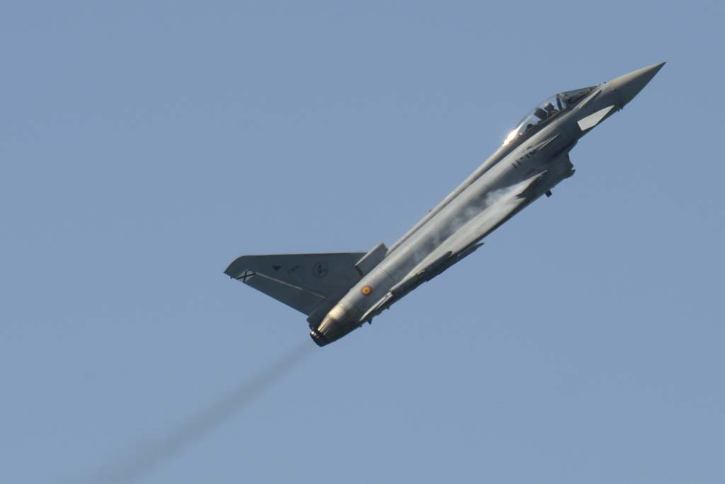 Entre las actuaciones más aplaudidas estuvo la del Eurofighter.