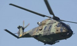 El NH90 de FAMET hizo su debú en un festival público en Rota.