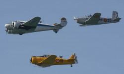La Fundación Infante de Orleans participó con tres de sus aviones: el Beech 18, el T-6 y el T-34.