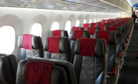 Asientos de clase turista del Boeing 787 de Royal Air Maroc.