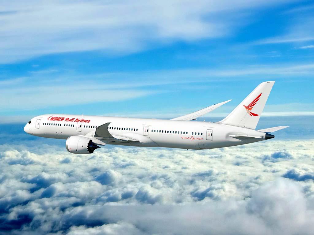Ruili cuenta hasta ahora con una flota de 9 B-737y cuenta con tener 70 aviones en 2025.