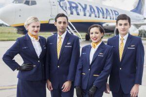 Tripulantes de cabina de pasaje de Ryanair.