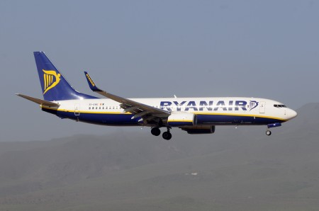 Boeing 737 de Ryanair en Las Palmas