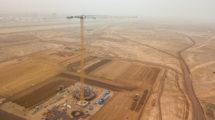 Obras de ampliación del aeropuerto Jorge Chávez de Lima.