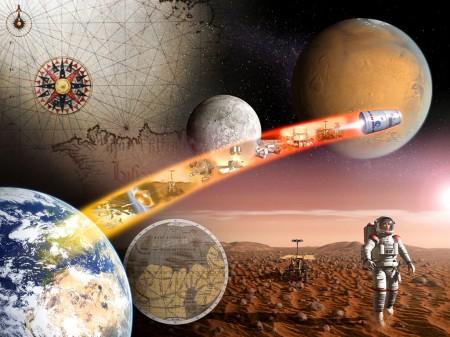 Alegoría de la exploración espacial