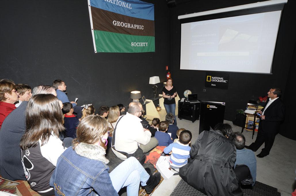 Conferencia de la SAE en la National Geographic Store de Madrid