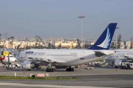 Uno de los tres A310 de SATA en el aeropuerto de Lisboa.