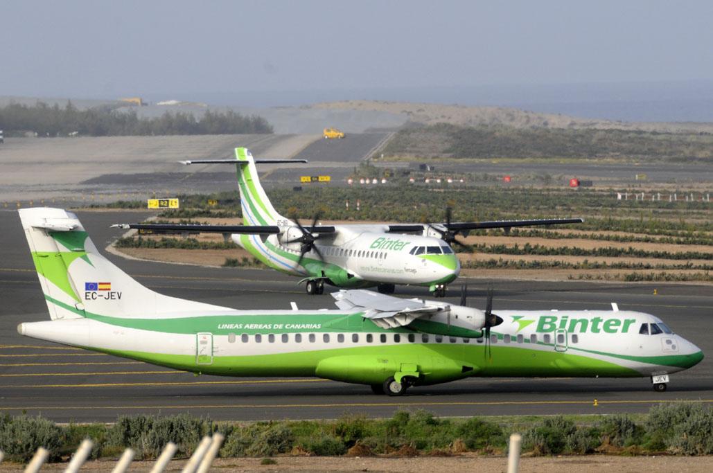 Aviones de Binter Canarias