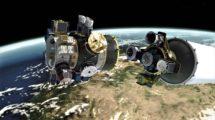 Para poder colocar en órbita los 64 satélites ha sido necesario diseñar unos soportes especiales que se separarán del cohete primero.