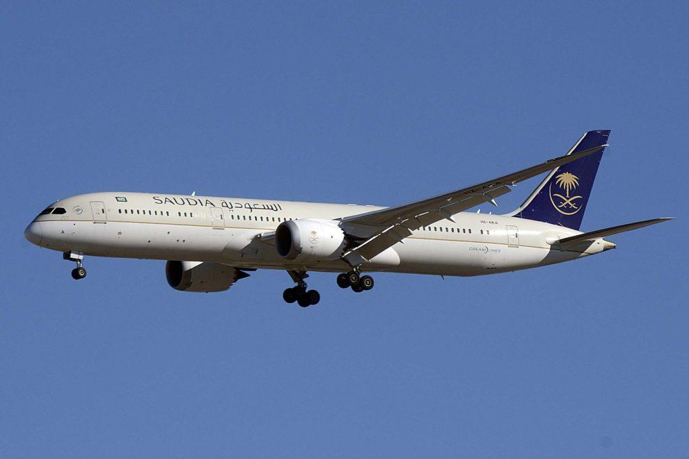 Saudia opera sus vuelos a España actualmente con sus Boeing 787 Dreamliner.