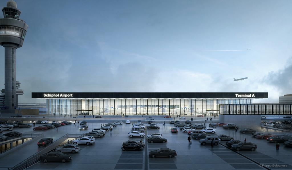 Ineco y Estudio Lamela se adjudican el diseño de la nueva Terminal A del aeropuerto de Schiphol, en Ámsterdam.