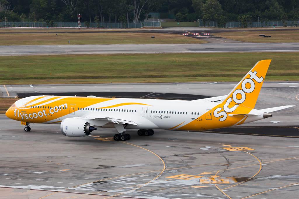 Entre los aviones entregados por Boeing en el primer trimestre de 2015 está el primer B-787 para Scoot.