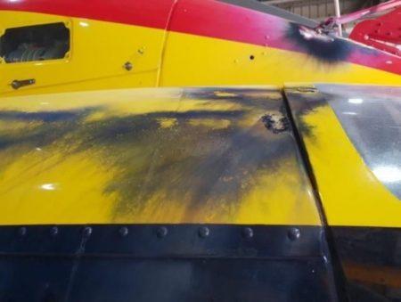 Los daños recibidos se se asemejan a los del impacto de un rayo.