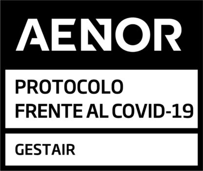 Sello dela certificación AENOR a Gestair.