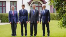 De izquierda a derecha, Jorge Sendagorta, Jorge Sendagorta Cudós, Andrés Sendagorta y Jorge Unda.