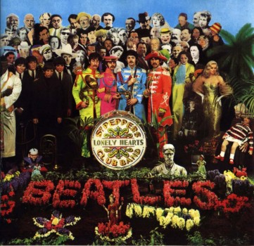 Portada del disco Sgt. Pepper's Lonely Hearts Club Band, octavo LP de The Beattles.