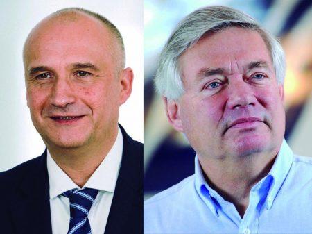 Eric Shulz (izquierda) será el nuevo responsable de ventas de Airbus, sustituyendo a John Leahy (derecha) que se jubila.