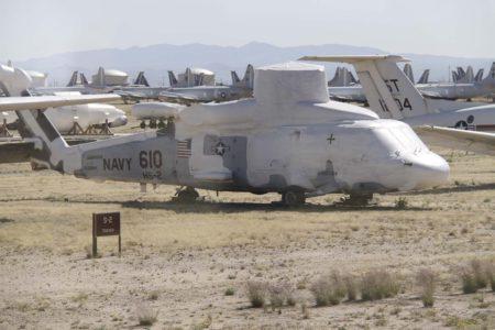 Uno de los muchos SH-60F almacenados en el AMARG (antes AMARC), de donde procederán los nuevos ejemplares para la Armada española.