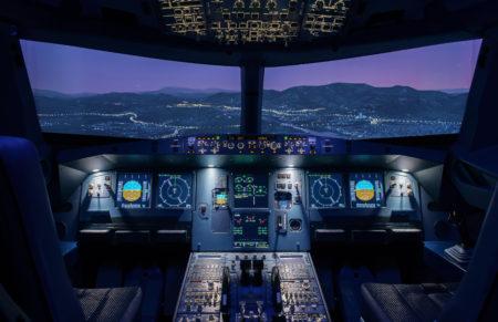 Simloc añadirá un sistema visual a la cabina del A320 de Brok Air para aumentar la realidad en la formación.