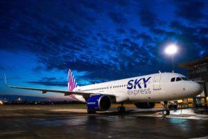 Entre las entregas de Airbus en noviembre ha estado el primer A320neo para la aerolinea griega Sly Express.