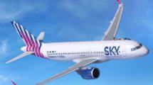 Sky Express estrenará una nueva imagen con la llegada de sus Airbus A320neo.
