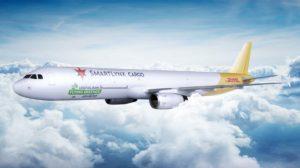 Decoración que está prevista luzcan los Airbus A321F de SmartLynx operando para DHL.