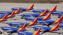 Aviones Boeing 737 MAX de Southwest aparcados desde la paralización en tierra del modelo.