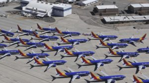 Algunos de los 34 Boeing 737 MAX que Southwest tiene aparcados.