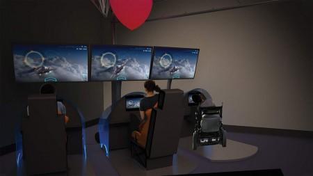 La exhibición se basa principalmente en actividades interactivas en las que podemos pilotar un avión, aprender como vuelan las aves, lanzar un cohete espacial o aprender aspectos básicos de la aerodinámica.