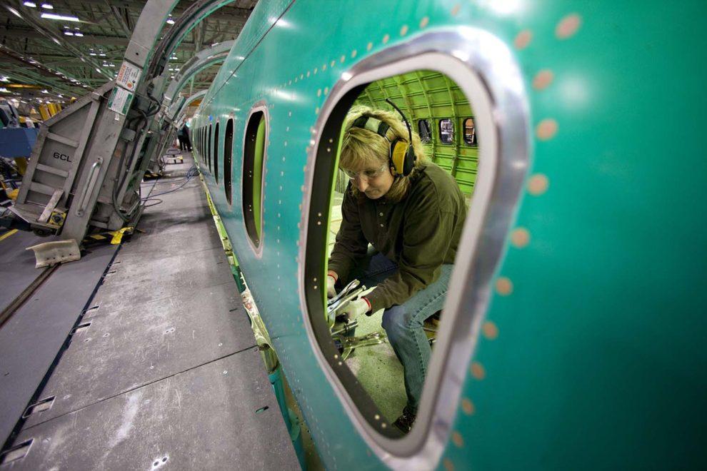 Producción de los fuselajes de Boeing 737 MAX en Spirit AeroSystems.