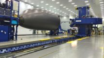 Producción del fuselaje delantero del Boeing 787 en SpiritAerosystems.