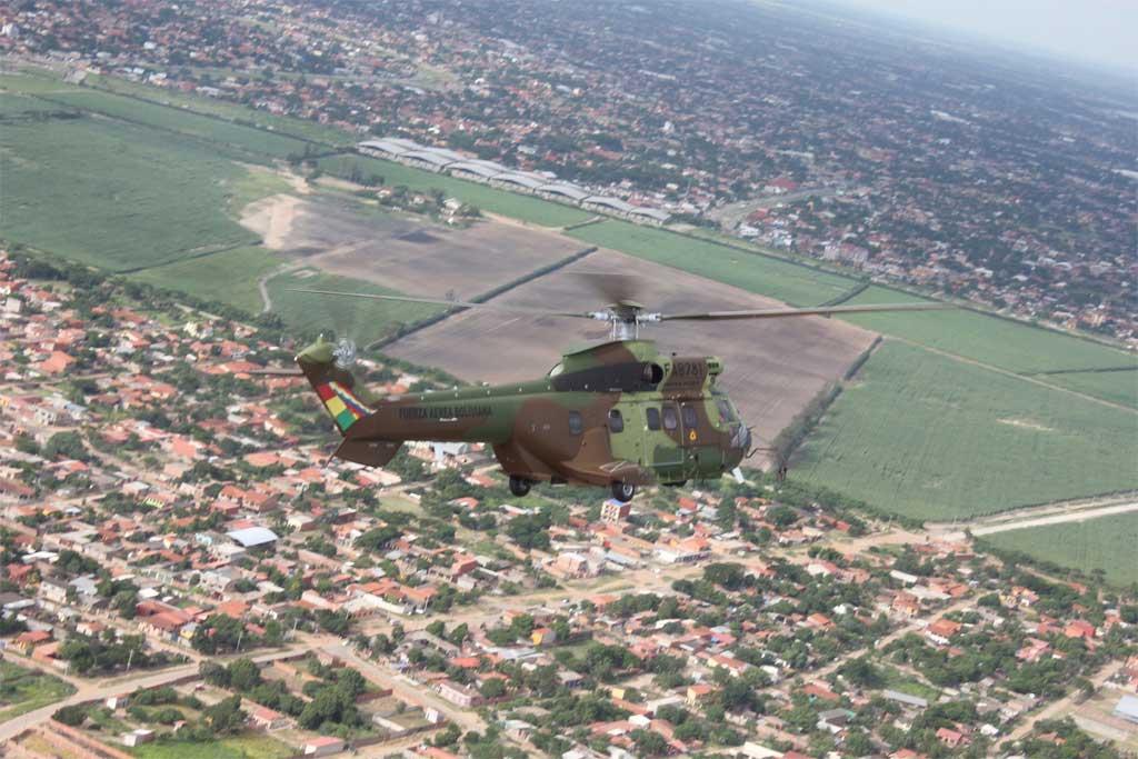 Super puma Fuerza Aérea Bolivia