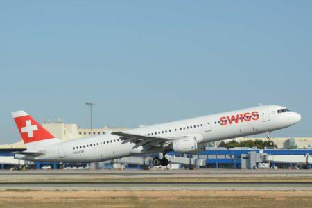 Swiss fue, del grupo de aerolíneas de red del grupo Lufthansa, la que menos pasajeros perdió en 2020.