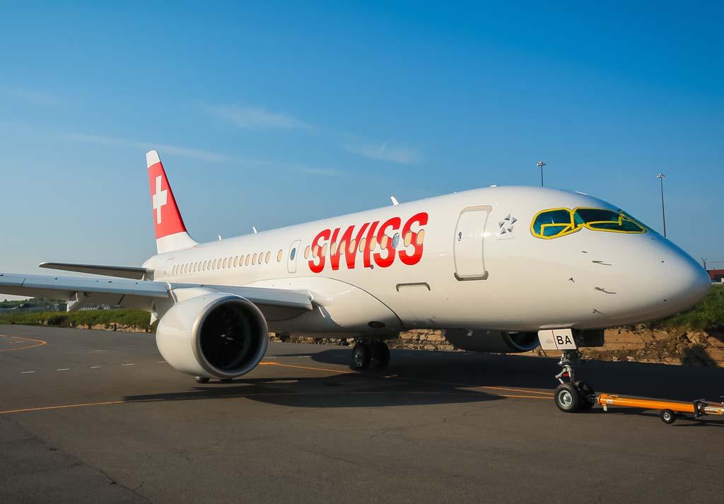 El primero de los 30 Bombardier C Series para Swiss.