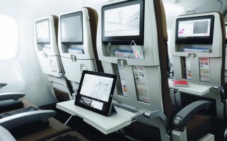 Asientos de clase turista de los Boeing 777 de Swiss.