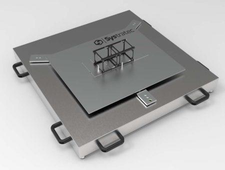 Sistema de laboratorio para piezas pequeñas.