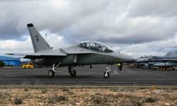 Varios T-346A italianos actuaron como Agresores durante el primero de los cursos TLP de 2016 en la base aérea de Albacete.