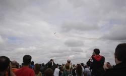 Nueve horas de vuelos en Torrejón y ni la lluvia pudo con los 200.000 asistentes.