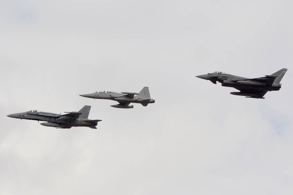 F/A-18, F-5 y Eurofighter del Ejército del Aire