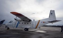 En la exposición estática algunos aviones no muy comunes, como uno de los dos C-212 del INTA.