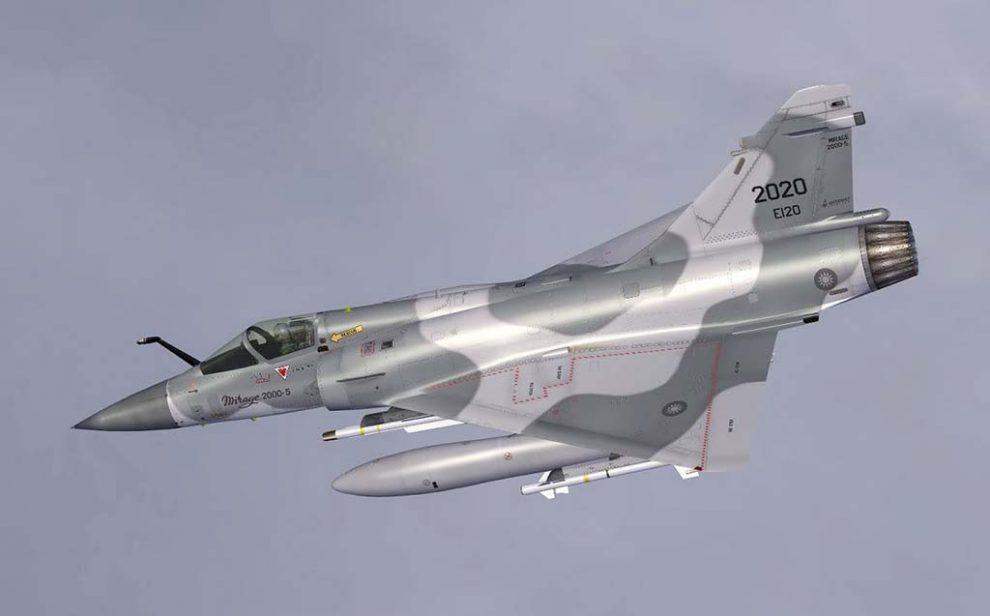 Mirage 2000 de la Fuerza Aérea de Taiwan equipado con, entre otros, misiles MICA.