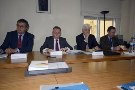 Alfredo Martínez, Adolfo Menéndez y Antonio Cuadrado durante la presentación de los resultados de TEDAE 2013.