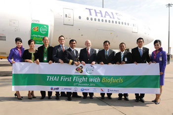 Primer vuelo con biocombustible de Thai Airways