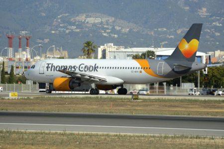Thomas Cook Balearics opera para las diferentes aerolíneas del grupo quebrado, aunque principalmente lo hacía para Condor.