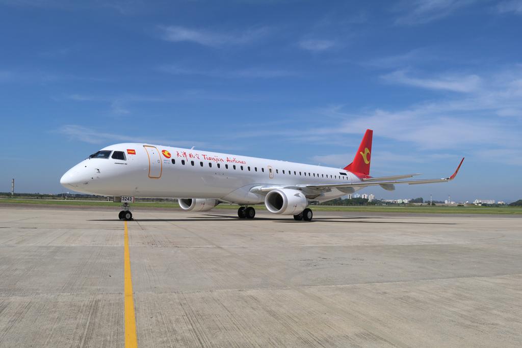 El Embraer E195 B-2343, número de serie 721 es el ejemplar número 1.300 de la familia EJet entregado.