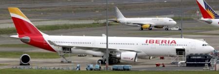 El segundo A330 de Iberia con los nuevos colores y uno de los dos nuevos A320 de Vueling