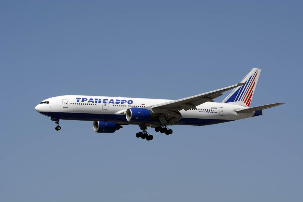 Uno de los nueve Boeing 777-200ER de Transaero.